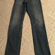Adriano Goldschmied Jeans the Everett 30 R Slim Straight Leg Blue Wore Look 5571 Photo