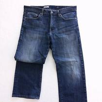 Adriano Goldschmied Mens Jeans the Hero Relaxed Fit Blue Denim Size 34 X 31 Photo