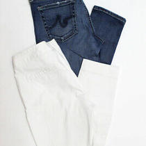 Adriano Goldschmied Theory Womens Skinny Jeans Pants Blue White Size 2 26 Lot 2 Photo