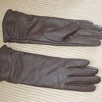 Adrienne Landau Dark Brown Women's Gloves With Polyester Lining- Size Small Photo