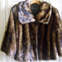Adrienne Landau Faux Fur Coat - Size S/m Photo