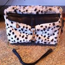 Adrienne Landau-Faux Snow Leopard Shoulder Bag Photo