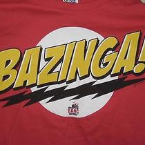 Adult L Large Big Bang Theory Tv Show Sheldon Bazinga Red T-Shirt Funny Photo