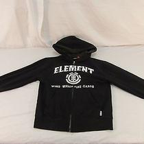 Adult Men's Element Black Wind Water Fire Earth Hooded Full Zipper Jacket 30708 Photo