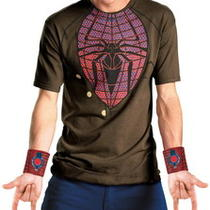 Adult Men Spider-Man Movie Peter Parker Persona Costume Shirt Photo