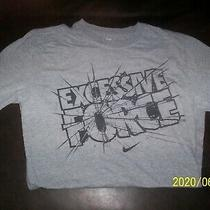 Adult Nike 'Excessive Force' Gray S.s. Cotton T  Shirt Medium Standard Fit  Photo