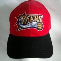 Adult Philadlephia 76ers Nba Basketball Red Adjustable Baseball Cap Hat Nwot Photo