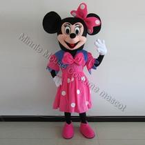 Adult Pink Minnie Mouse Costume Mascot Party Clothing Fancy Dress Photo