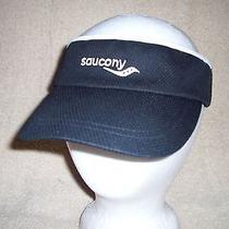 Adult Saucony Visor One Size Fits Most Black & White Sun Tennis Sports Hat Euc Photo