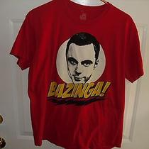 Adult Tee Shirt Size Medium Bazinga Sheldon Big Bang Theory Tv Show Television Photo