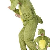 Adults Crocodile Animal Jungle Hilarious Fancy Dress Costume Jumpsuit Photo
