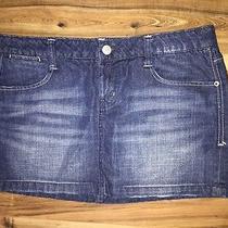 Ae American Eagle 77 Jeans Denim Mini Skirt   Size 10 Photo