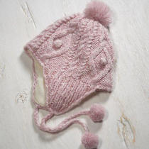 Ae American Eagle Cableknit Trapper Hat in Rose Blush Pink Photo