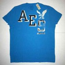 Ae American Eagle Mens Signature Graphic T-Shirt Aqua Blue Xl New Great Gift Photo