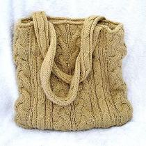 Aereopostale Cable Knit Tote Bag Beige  Photo
