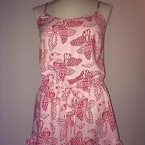 Aerie Light Cotton Romper Blush and Dark Pink Xs Nwot  Frilly and Flirty Photo