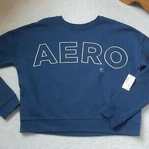 Aero Aeropostale Girls Juniors Size X-Small Xs Sweatshirt - Navy - Short Waist Photo