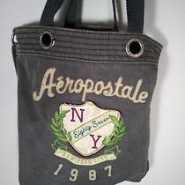 Aeropostale 1987 Nyc New York City Gray Tote Messenger Bag Photo