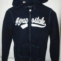 Aeropostale 87' Womens Navy Blue Full Zipper Hooded Sweatshirt Jacket Xsmall  Photo