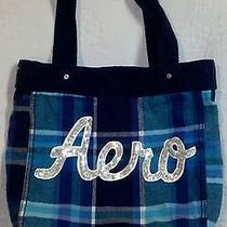 Aeropostale Aero Book Bag Bookbag Blue Sequins Overnight School College Photo