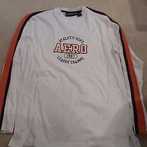 Aeropostale Aero Long Sleeve White Orange Shirt Men's Small Photo