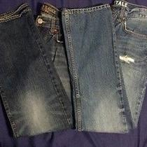 Aeropostale American Eagle 2x Pairs Mens/boys 29/30 Jeans Slim Bootcut Photo