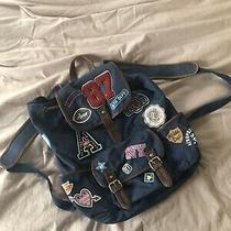Aeropostale Backpack Navy Blue With Decals Photo