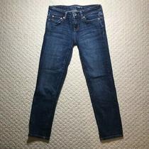 Aeropostale Bayla Cropped Skinny Jeans 000 Crop Dark Wash Great Condition Photo