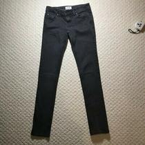 Aeropostale Bayla Skinny Jeans 1 /2 Regular Length Medium Black Very Good Photo