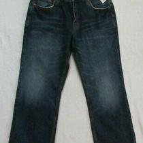 Aeropostale Benton Jeans Boot Cut Distressed Blue Men's Waist 34 Nwt 34x30 Photo