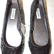 Aeropostale Black Sequin Ballet Flats Size 8 Nwt Free Shipping Photo