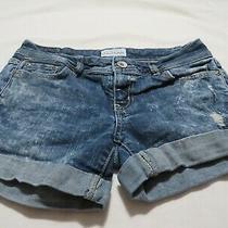 Aeropostale Blue Acid Washed Shorts  Size 0 Photo