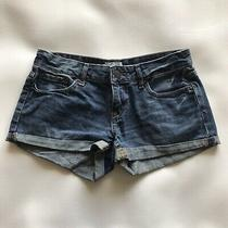 Aeropostale Blue Cuffed 5 Pocket Low Rise Denim Jean Shorts Size 1 Photo