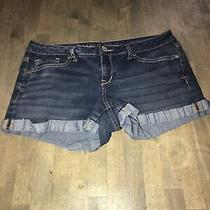 Aeropostale Blue Denim Stretch Cotton Cuffed Hem Jean Shorts Size 6 Photo