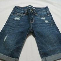 Aeropostale Blue Distressed Bermuda Shorts  Size 000 Photo