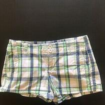 Aeropostale Blue Green Madras Shorts Womens Size 00 Photo