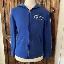 Aeropostale Blue Hoodie Sweatshirt Jacket Size L (Y1) Photo