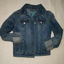 Aeropostale Blue Jean Denim Jacket Coat Metal Buttons Sz Xs/tp C024 Photo