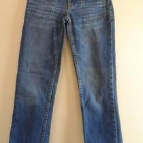 Aeropostale Blue Jeans Cropped Pants Straight Leg Sz 00 Euc Photo