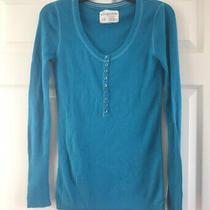 Aeropostale Blue Long Sleeve Sweater Shirt Womens Large Photo