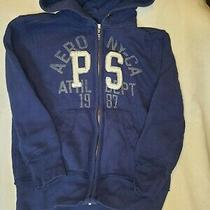 Aeropostale Boys Blue Hoodie Jacket Size 7 Zip Up Back to School Casual Outfit Photo