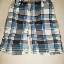 Aeropostale Boys Blue Plaid Shorts Size 6 Back to School Outfit Casual Cute Cool Photo