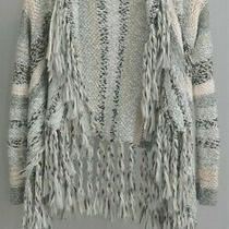 Aeropostale Cardigan Sweater Size Medium Chunky Knit Gray Pink Tan Bethany Mota  Photo