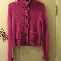 Aeropostale - Cardigan Sweater - Size S/p - Raspberry - Cotton/acrylic Blend Photo