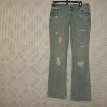 Aeropostale Chelsea Sz 1/2 Regular Bootcut Distressed Jeans 30x31 R 7 928u Photo