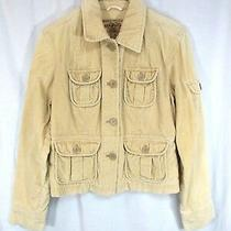 Aeropostale Corduroy Jacket Sz M Brown Button Up Front Long Sleeve Pockets  Photo