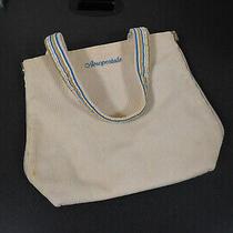 Aeropostale Cream / Blue-Tan-Gray-Cream Stripped Reversible Tote/purse   Photo