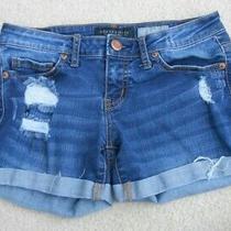 Aeropostale Cuffed Denim Shorts Size 0 Photo
