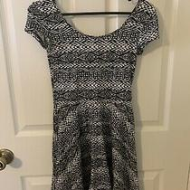 Aeropostale Cute Black and White Fit & Flare Dress Xs Photo
