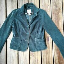 Aeropostale Dark Forest Green Velvety Corduroy Button Down Blazer Jacket S Photo